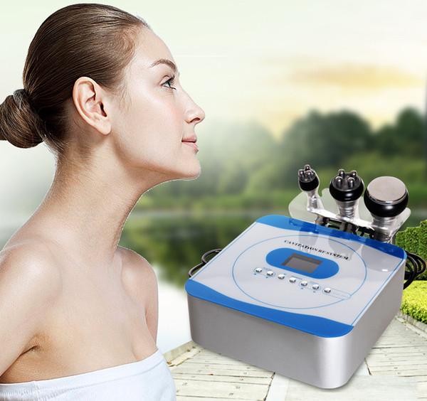 Vente chaude Portable 3 en 1 Usage Domestique À Ultrasons Cavitation Radio Fréquence Cellulite Minceur Machine Vide RF Facial Soins de La Peau Beauté Dispositif