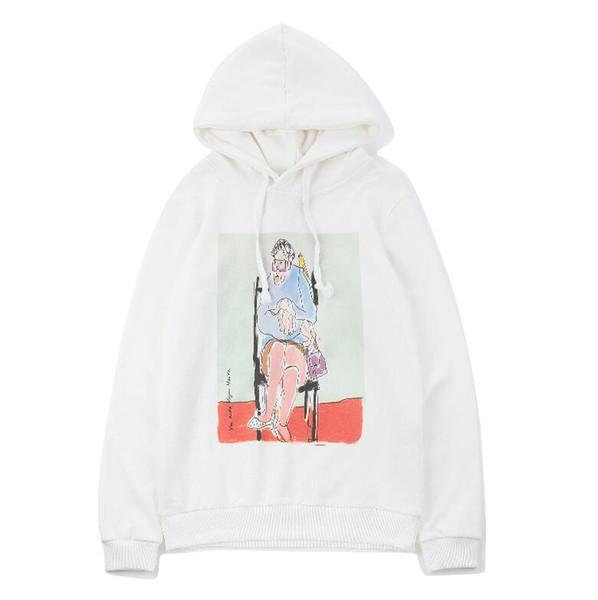 2018 new style Designer luxury Streetwear Men's Sweaters Museum oil painting characters printing couple Hooded Paris hoodies