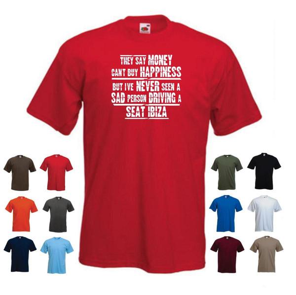 'SEAT IBIZA' T-shirt Cadeau de voiture drôle pour homme 'Ils disent que l'argent ne peut pas acheter le bonheur ...'