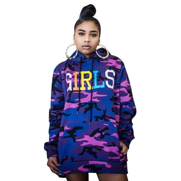 Camo womens designer hoodies long sleeve pullover camouflage loose sweatshirt shirts brand fashion designer tops hip hop sweater tops 0365