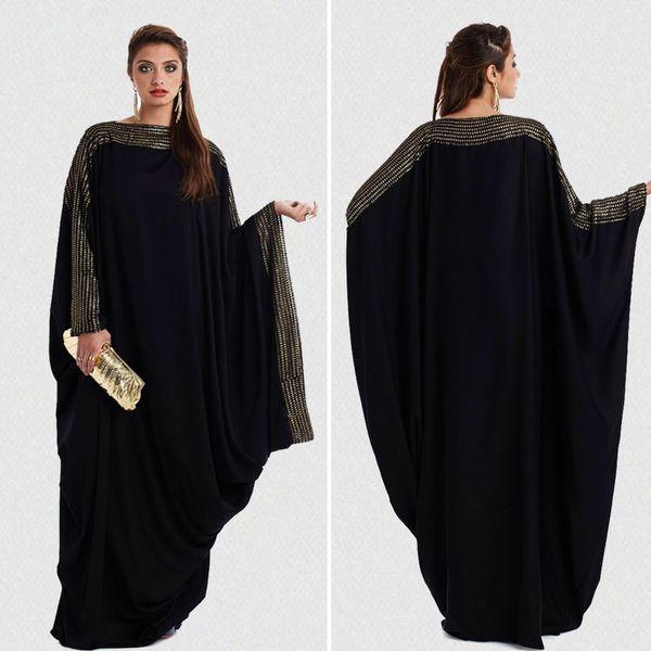 Plus size S ~ 6XL qualidade novo árabe elegante solto abaya kaftan moda islâmica vestido muçulmano roupas design mulheres preto dubai abaya