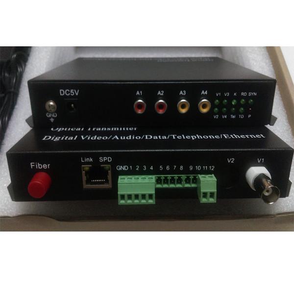 Video/Audio/RS422 Data/Contact closure Fiber optic Media converters (Tx /Rx)