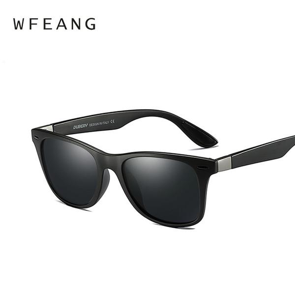 Wefang marca design clássico polarizada óculos de sol das mulheres dos homens de condução quadrado quadro óculos de sol masculino goggle uv400 gafas de sol