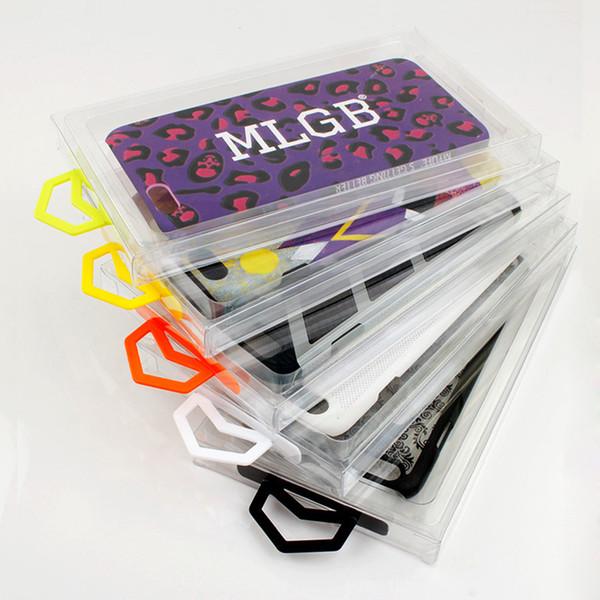 2019 NUEVA Venta al por menor transparente caja de embalaje de PVC en blanco para los accesorios de la caja del teléfono móvil MOQ 100 unids venta caliente
