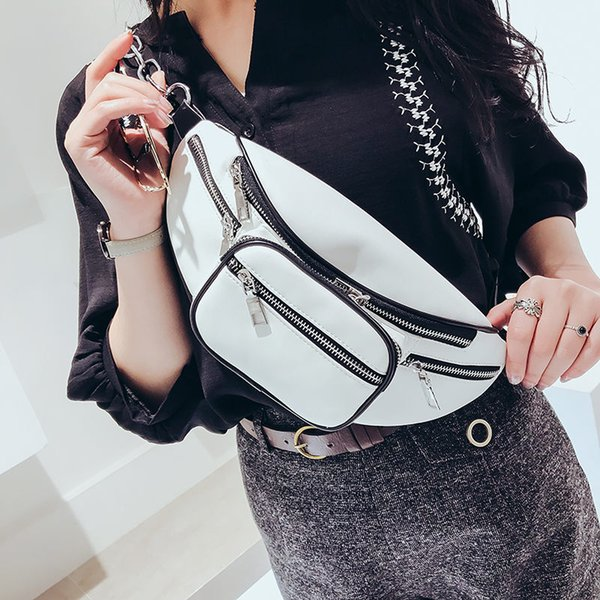 MENGXILU PU Leather Waist Bag Women Purse Waist Bags for Women Bag Belt Women's Belt Female Pack Men Fanny Packs 2018