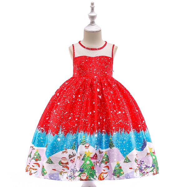 Compre Vestido De Tutú Para Niñas Lindo Santa Claus Impreso Navidad Niña Vestidos Regalo De Navidad Elegante Vestidos De Gallo Traje De Moda A 1508