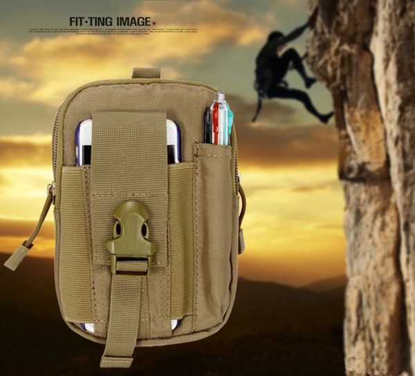 5.5'Universal funda táctica al aire libre militar Molle Hip cintura cinturón bolsa billetera bolsa monedero caja del teléfono con cremallera para iPhone Samsung LLFA