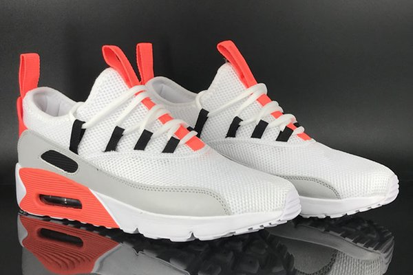 Compre Nike Air Max Airmax 90 EZ Nuevo Zapatillas De Running Para Hombres Transpirables Air Cushion 90 EZ Outdoor Gris Red White Black Mans Sports