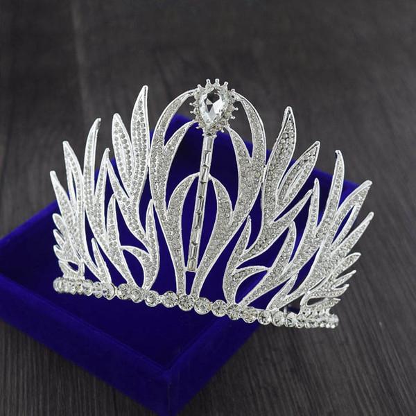 Новый высокого класса люкс тиара корона Европейский ретро барокко свадебные принцесса аксессуары для волос свадебные украшения