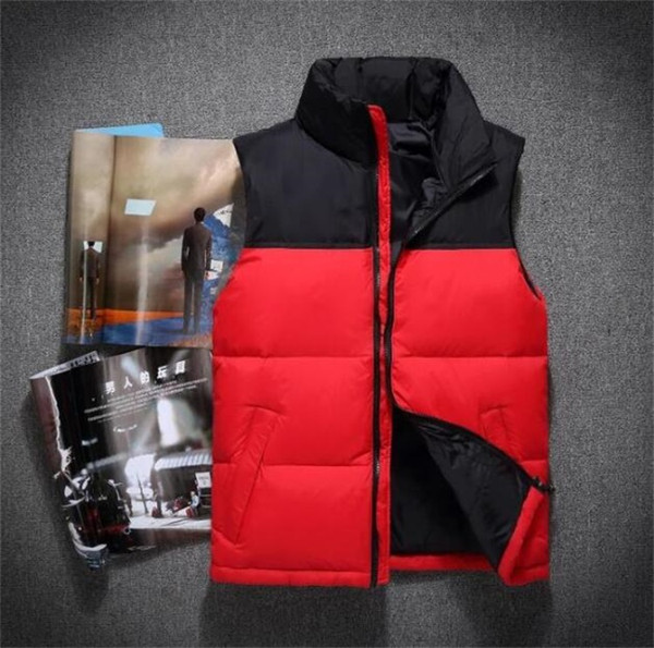 best selling Hot 2018 men DOWN winter down jacket North Polartec vest Male Sports Hooded Jackets Bomber Collar With Zippers Outdoor face Coats