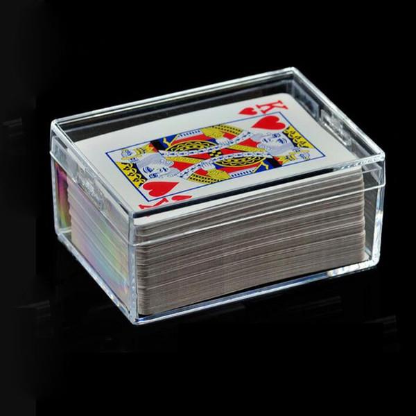 Großhandel Ps Transparent Box Sealed Package Display Kunststoff Rechteckige Poker Visitenkarte Klar Aufbewahrungsbox Freies Verschiffen Za6221 Von