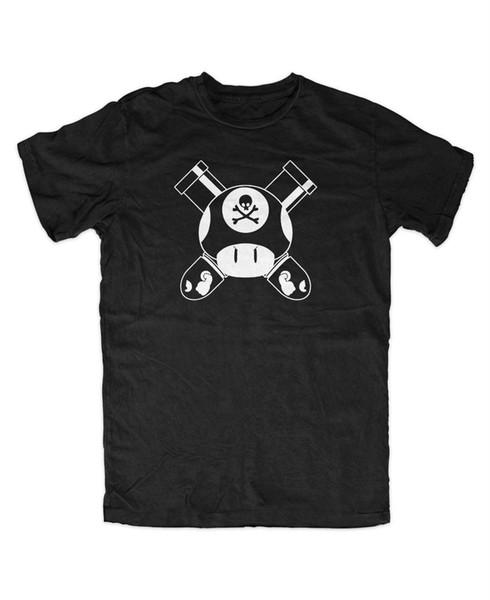 Mario Gun Club M2 T-Shirt Gamer Fun Konsole Super Mario Luigi Yoshi Wario Koopa Mens 2018 fashion Brand T Shirt O-Neck