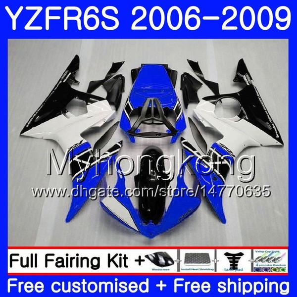 Bodys For YAMAHA YZF600 YZF R6 S YZF R6S Blue black stock 2006 2007 2008 2009 231HM.26 YZF-R6S YZF-600 YZF R 6S R6S 06 07 08 09 Fairing Kit