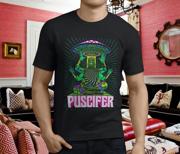 New Popular PUSCIFER Band Herren Schwarz T-Shirt Größe S-3XL