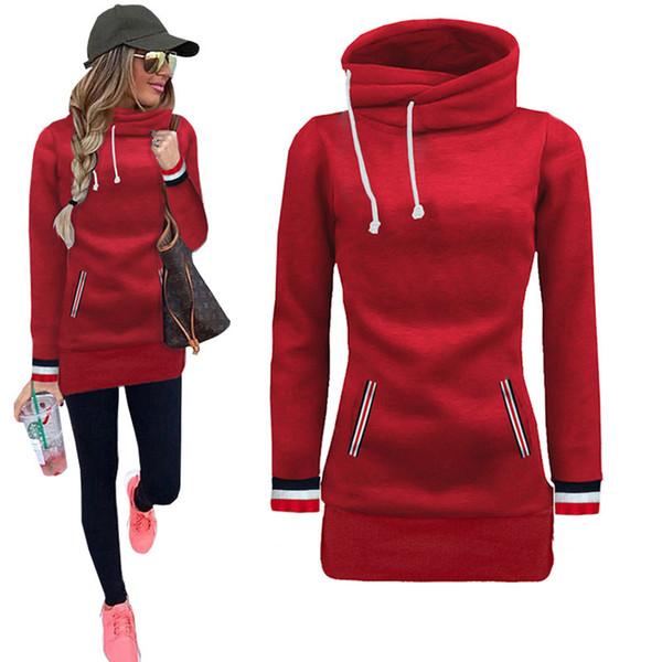 Autumn Spring Pullover Office Lady Sweatshirt Western Style Slim Women Sweatshirts Hoodies Fashion Casual Female Outwear FLD1223 L18100701