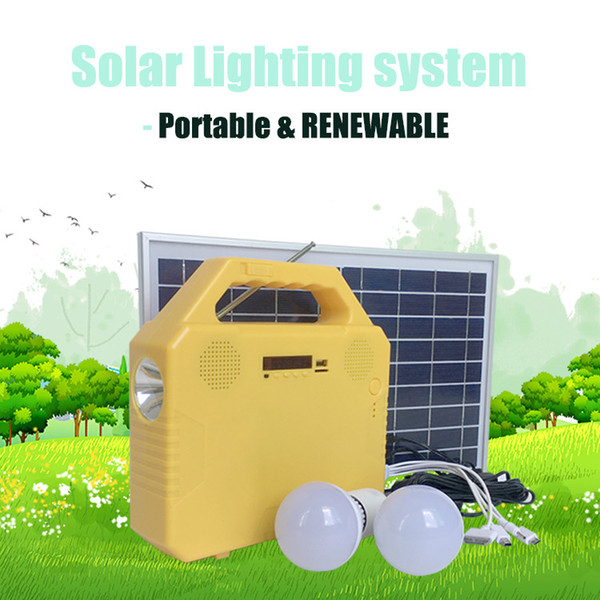 2018 Portable Solar Panel Solar Home System Solar Energy Chargers Phone  Lighting Music Radio Function For Home & Garden From Greensolartech,  $128 65 |