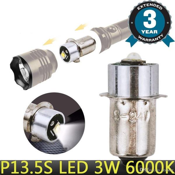 DHL CREE P13.5S PR2 LED Upgrade Birne 3W LED Ersatzbirnen für Taschenlampen Taschenlampe Arbeit Licht C + D Zellen