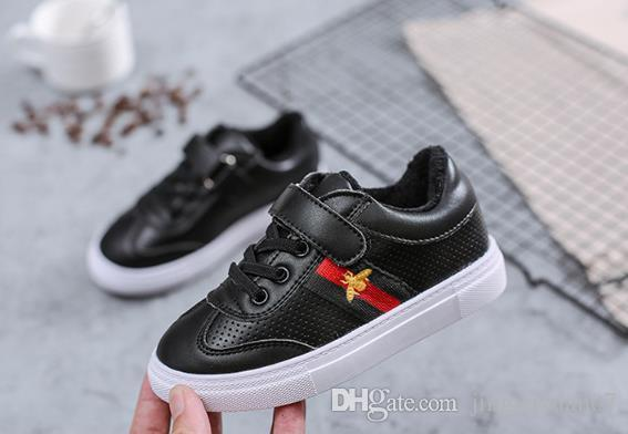 Best-selling new 2019 spring winter girls little white shoes student sports shoes boys net shoes 21-37cm
