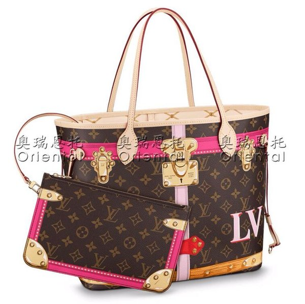 women composite bags with purse black white GM fashion famous brand desiner NEVERFUL handbag Trunk shoulder shopping bags outdoor bag