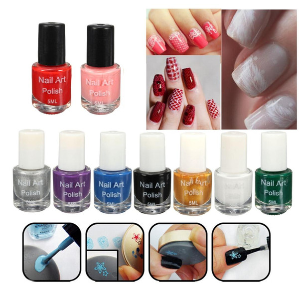 2017 New Nail Polish Oil Stamping 5ml Polish Acrylic Gel Tip Dedicated Authentic Sticker Nail Art Printing WH998