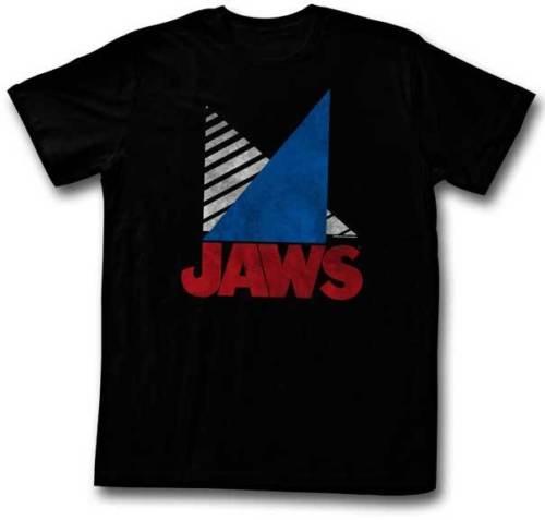 Maxilares Triângulos Listras Adulto Camiseta Grande Estilo Clássico Filme Hip Hop Tops Camiseta Casual Homem de Manga Curta Lazer
