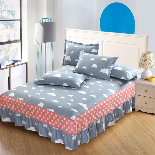Großhandels-Wolken gedruckter Twill voll Königinkönig Baumwollgewebe für graues rosa Himmel Gewebe-Bettdecke-Nachtwäsche-Kinderkleid-Rockbettwäsche