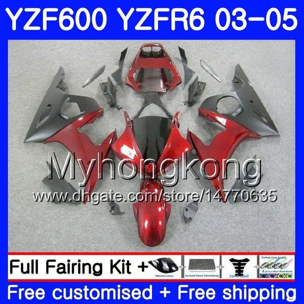 Corps pour YAMAHA YZF-600 YZF-R6 03 YZF R6 2003 2004 2005 Carrosserie 228HM.29 YZF 600 R 6 YZF600 YZF6 03 04 05 Kit carénage