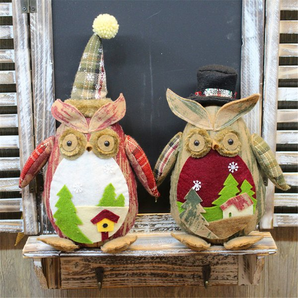 Cute christmas decorations for home Ornaments Party Owl Doll Christmas Tree Hanging Decoration Gifts kerst decoratie