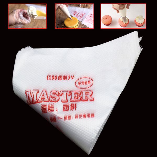 Lovely 100Pcs Christmas Kitchen Accessories Disposable Pastry Bag Icing Piping Cake Pastry Cupcake Decorating Bags