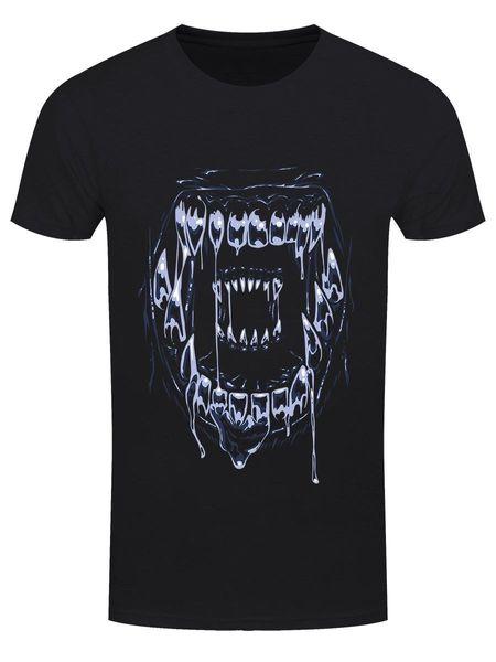 T-shirt nera da uomo Xenomorph Close Up