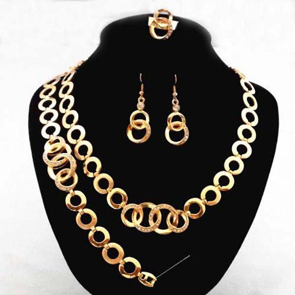 5pcs high-end jewelry, jewelry, earrings, bracelet necklace set retail wholesale
