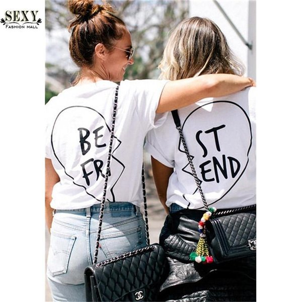 2016 New women tops Letter Best Friends t shirts Couples short sleeve Loose tee shirt female t-shirts Plus Size Cotton T-shirt20