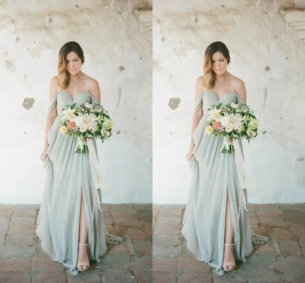 2018 Country Bridesmaid Dresses Hot Long For Weddings Navy