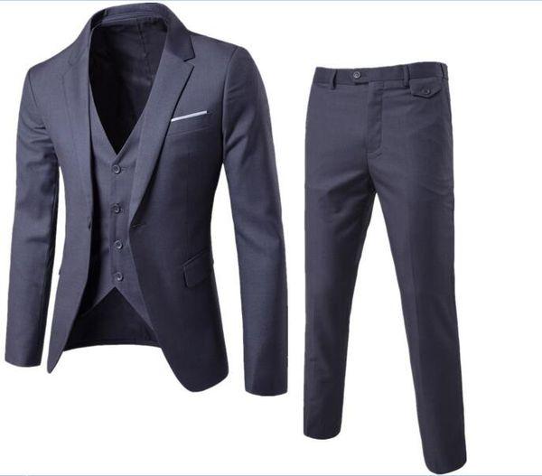 Custom Made Groom Tuxedos Groomsmen Morning Style 9 Style Best man Peak Lapel Groomsman Trajes de boda para hombre (chaqueta + pantalón + chaleco) XF001