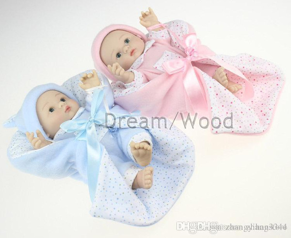 25cm full silicone reborn baby dolls toys for girls simulation baby doll play house bedtime toy girls brinquedos bebe doll