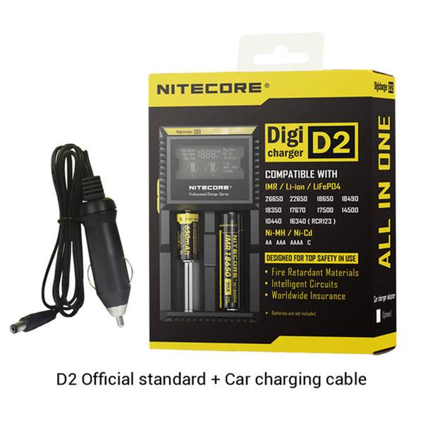 Lithium Ion Car Battery >> Original Nitecore D2 Charger Digital Lcd Intelligent Circuitry Li Ion 18650 14500 26650 10440 Car Battery Charger Nitecore New I2 I4 I8 D4 Laptop
