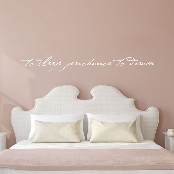 decal notebook 115x15cm Shakespeare Quote - To Sleep Perchance to Dream - Art Lettering Vinyl Wall Decal Bedroom Decor ,L2061