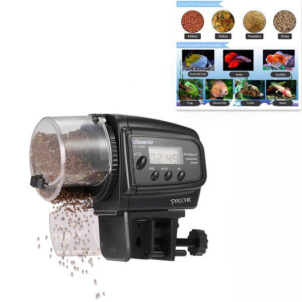 Dijital Otomatik Balık Besleyici Akvaryum Balık Kurbağa Tankı için Kaplumbağa Besleme Balık Gıda Dağıtıcı 100 Adet