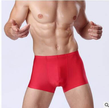 100% Luxury red Man Boxers Short Cotton Mens Sexy Underwear White And Red Line Fashion Designer Soft Breathable Elastic Men Boxer Panties