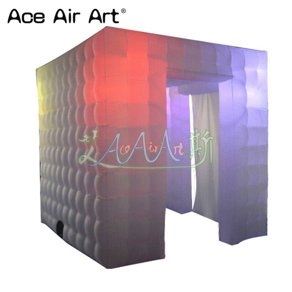 Defr designed mobile photo booth props,photo cube,wedding photo wall/cabina with 16 colors chaning for sale