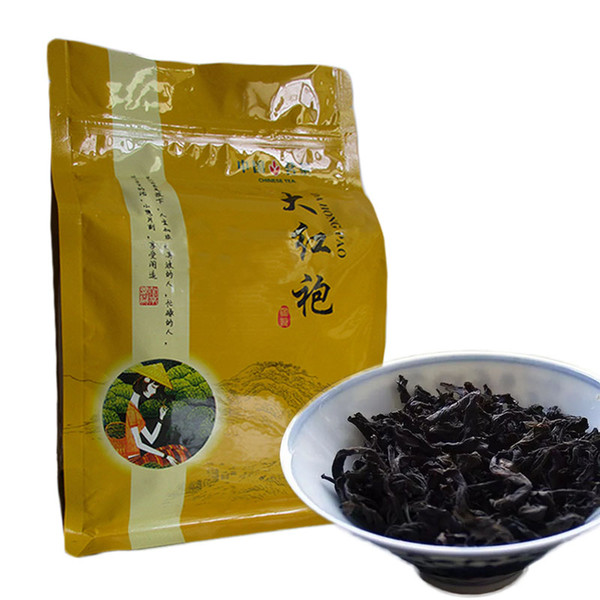 best selling 250g Chinese Organic Black Tea Big Red Robe Dahongpao Oolong Red Tea Health Care New Cooked tea Green Food Sealing strip packaging