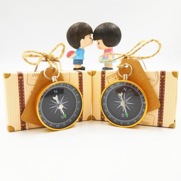 Путешествия Тема конфеты подарочная коробка с компасом тег карты свадебные сувениры и подарки ключ открывалка для бутылок +тег коробка путешествия партия выступает