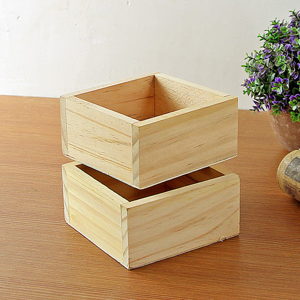 Wood Box Succulent Planter wooden Flower pot fence planter tray home and shop decorative Free shipping