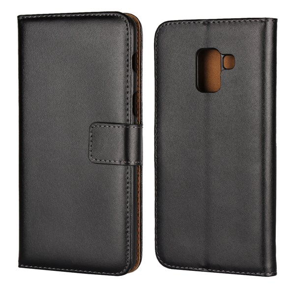 Flip Wallet Genuine Leather Case For Samsung Galaxy A8 2018 A6 Note 9 J3 J4 J5 J6 J7 2017 Real Leather Bag Cover