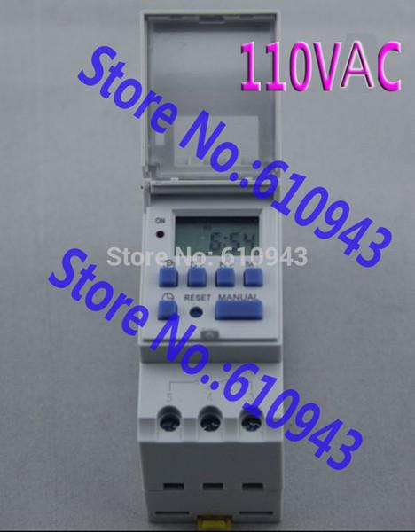 THC15A 110V Din Rail montaje programable Digital Electronic Timer Switch Relay Control 110V 16A