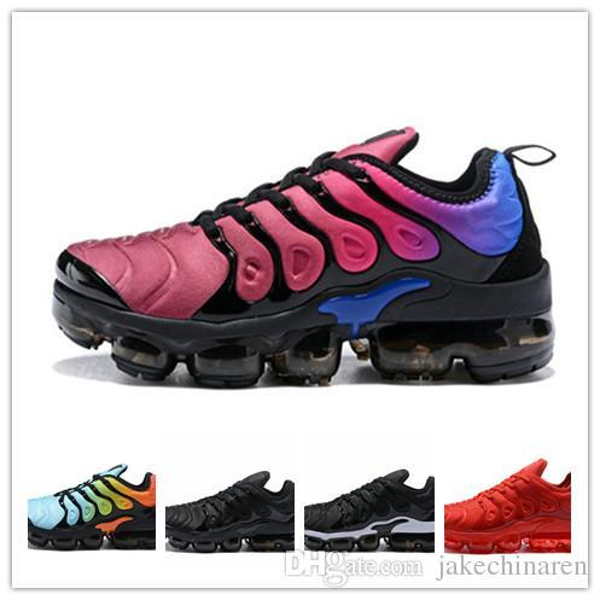 New TN Plus Men Women Shoes Outdoor Run Shoe Black White Sport Walking Trainers Hiking Sports Athletic Sneakers EUR 36-45