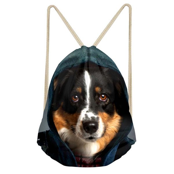 Noisydesigns funny dog Cold cute Newest Bear School Drawstring Bag Couple  Lover Shoe Backpack Pocket String 071f4108f