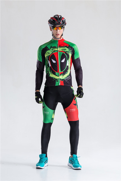 2019 spring Autumn Long Sleeve Power Team men's bicycle jersey Cycling Jerseys bike Clothing quick dry Ciclismo hombre A0402