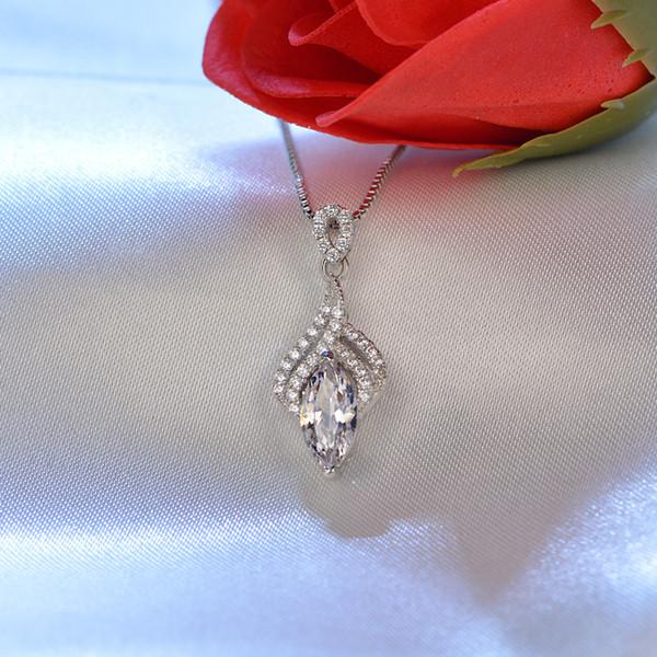 Красивая линия инкрустированные Циркон искусственный алмаз кулон женский темперамент ожерелье ключицы цепи