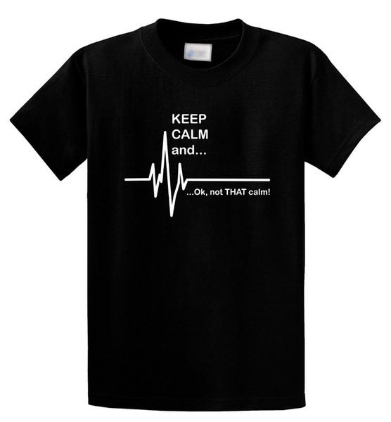 2018 Nueva Marca de Moda Ropa de Diseño Tee Shirt Mantenga la calma Ok No esa calma Divertida Paramédico EMT Camiseta Anime Ropa Informal